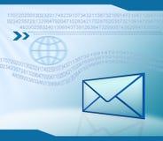 технология электронной почты предпосылки Стоковая Фотография