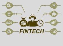 Технологии знака финансовые Стоковые Изображения