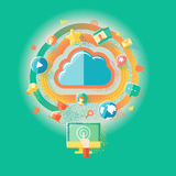 Технологии и интернет облака Стоковые Изображения RF