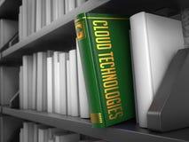 Технологии облака - название книги воспитательно стоковое изображение