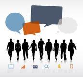 Технологии связи речи бизнесмены концепции пузырей Стоковые Изображения