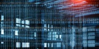 Технологии сети и концепция безопасностью иллюстрация вектора