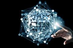 Технологии соединяя мир Стоковое Изображение