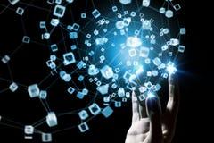 Технологии соединяя мир Стоковые Изображения