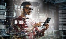 Технологии для соединения и сообщения стоковые изображения rf