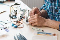 Технологический комплект с соединенным концом-вверх кабелей Стоковые Фото