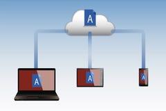 Технологическое облако Стоковое Фото