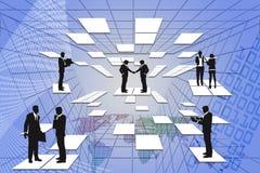 Технология бизнесмена цифровая. Стоковое Изображение RF