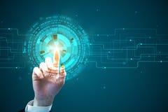 Технология, будущее и финансы Стоковая Фотография