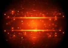 Технология вектора абстрактная будущая, предпосылка иллюстрации Стоковые Изображения