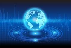 Технология глобализации и механически иллюстрация штока