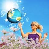 Технология интернета глобализация Стоковая Фотография