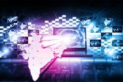 Технология интернета цифров Индии бесплатная иллюстрация