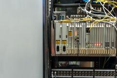Технология переключателя ядра в месте комнаты сети стоковое изображение