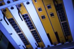 Технология переключателя ядра в месте комнаты сети Стоковая Фотография