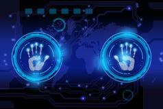 Технология печати руки развертки стоковая фотография rf