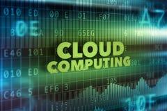 технология принципиальной схемы облака вычисляя Стоковое Фото