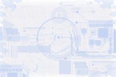 технология планеты телефона земли бинарного Кода предпосылки Стоковая Фотография RF