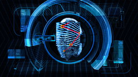 Технология развертки безопасностью отпечатка пальцев (HD) иллюстрация штока