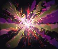 Технология стекловидных волн галактики футуристическая виртуальная Стоковая Фотография