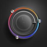 Технология App - (черный вариант) Стоковые Изображения