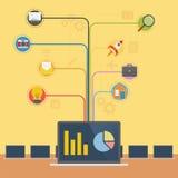 Технология Infographic компьтер-книжки бесплатная иллюстрация