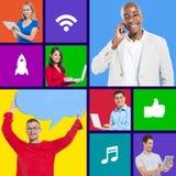 Технология wifi таблетки связи интернета стоковое фото