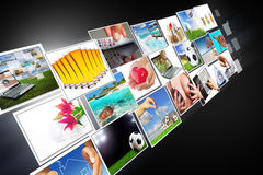 течь мультимедиа широкоэкранный Стоковое Изображение