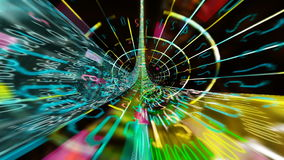 Течь тоннели цифровых данных иллюстрация штока