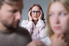 Теща и тревога замужества Стоковые Изображения