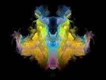 Телевизионная испытательная таблица Rorschach цвета Стоковое Фото