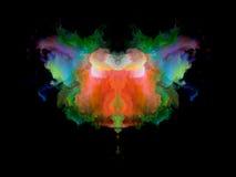 Телевизионная испытательная таблица Rorschach цвета стоковое фото rf