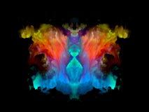 Телевизионная испытательная таблица Rorschach цвета иллюстрация штока