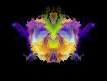 Телевизионная испытательная таблица Rorschach цвета иллюстрация вектора