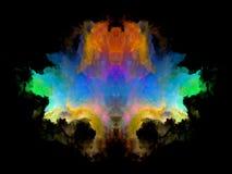 Телевизионная испытательная таблица Rorschach цвета стоковые фото