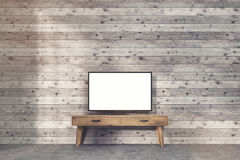Телевизор на узкой таблице Стоковое Фото