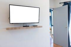 Телевидение ЖК-ТЕЛЕВИЗОРА с пустым космосом экземпляра Стоковые Фото