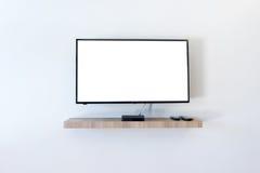 Телевидение ЖК-ТЕЛЕВИЗОРА с пустым космосом экземпляра Стоковое Фото
