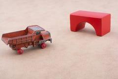 Тележка автомобиля игрушки Стоковое фото RF