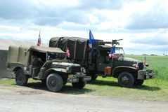Тележка армии Франция США Стоковое Изображение RF