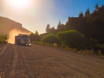 Тележка в дороге пыли Стоковое Изображение