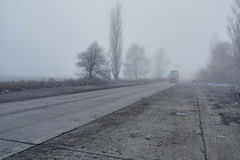 Тележка в тумане Стоковое Изображение RF