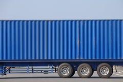 Тележка грузового контейнера на верфи контейнера Стоковая Фотография