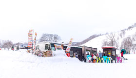Тележка еды в зоне снега Niseko Стоковые Фото
