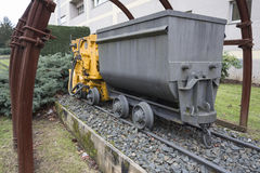 Тележка железной дороги шахты стоковое фото