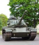 Тележка и колеса американского танка Вид спереди танка Стоковые Фото