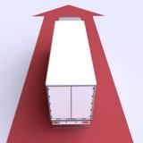Тележка иллюстрация 3d Стоковое фото RF
