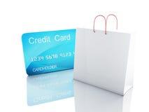 тележка кредита 3d женщина ног принципиальной схемы мешка предпосылки ходя по магазинам белая Стоковое Изображение