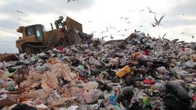 Тележка места захоронения отходов видеоматериал