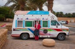Тележка мороженого в Эр-Рияде, Саудовской Аравии Стоковое Фото